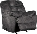 "Ashley Accrington Collection 7050925 42"" Rocker Recliner with Fabric Upholstery  Tufted Back Cushion and Pillow Top Armrests in Granite"