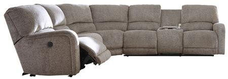 Ashley Pittsfield Collection 17901-58-46-77-90 4-Piece Sectional Sofa with  Left Arm Facing Zero Wall Power Recliner Armless Chair Wedge and Right Arm  ...