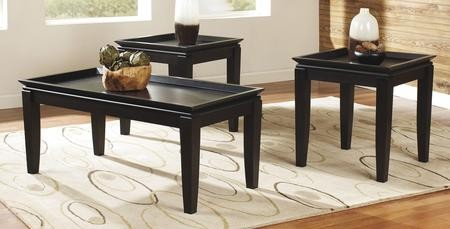 Ashley Delormy Collection T131 13 3 Piece Occasional Table Set With Coffee  Table And