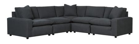 Fabulous Ashley Savesto Collection 31104 64 46 77 46 65 114 5 Piece Sectional Sofa With Left Facing Corner Chair 2X Armless Chairs Wedge And Right Facing Alphanode Cool Chair Designs And Ideas Alphanodeonline