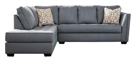 Brilliant Ashley Filone Collection 53401 16 67 112 2Pc Sectional Sofa With Left Facing Chaise And Right Facing Sofa In Steel Short Links Chair Design For Home Short Linksinfo