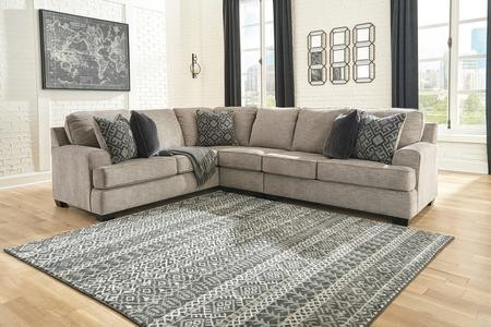 Superb Ashley Bovarian Collection 56103 48 46 56 130 3Pc Sectional Sofa With Left Arm Facing Sofa Armless Chair And Right Arm Facing Loveseat In Stone Color Gmtry Best Dining Table And Chair Ideas Images Gmtryco