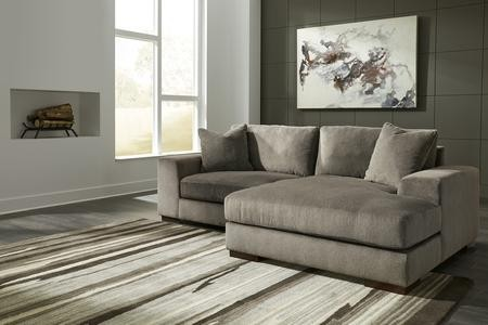 Admirable Ashley Manzani 30304 17 64 105 2 Piece Sectional Sofa With Left Arm Facing Chair And Right Arm Facing Corner Chaise In Graphite Alphanode Cool Chair Designs And Ideas Alphanodeonline