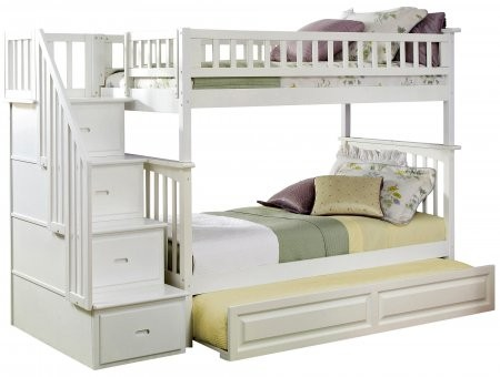 Atlantic Furniture Ab55632 68 875 Columbia Staircase Bunk Bed Twin