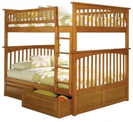 Atlantic Furniture Ab55527 68 125 Columbia Bunk Bed Full Over Full