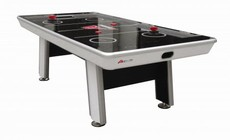 Atomic G04864W Avenger 8' Air Hockey Table with Touch Screen Controls  a LED Scoring Two Premium Ergonomic Strikers and Two Red 3.25 Pucks