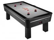 Atomic G04863W AH800 8' Air Hockey Table with  a LED Scoring Display  a LED Light Up Goal 4 Premium Ergonomic Strikers and 4 (2 Red  2 White) 3.25