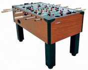 Atomic G01889W Gladiator Traditional Foosball Table with Integrated Cup Holders  Solid Wood Slide Scoring and 4 Balls