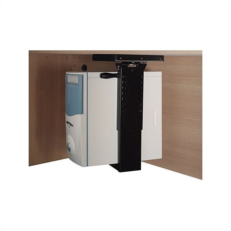 11 Elegant Kitchens Delivered Straight From Your Dreams: BBF Bush Business Furniture CPU Holder With Black Finish