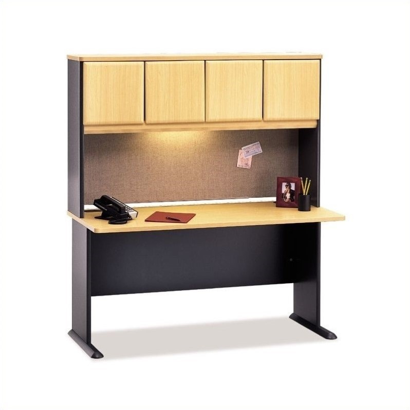 Bbf Bush Business Series A 60 Quot Computer Desk With Hutch In