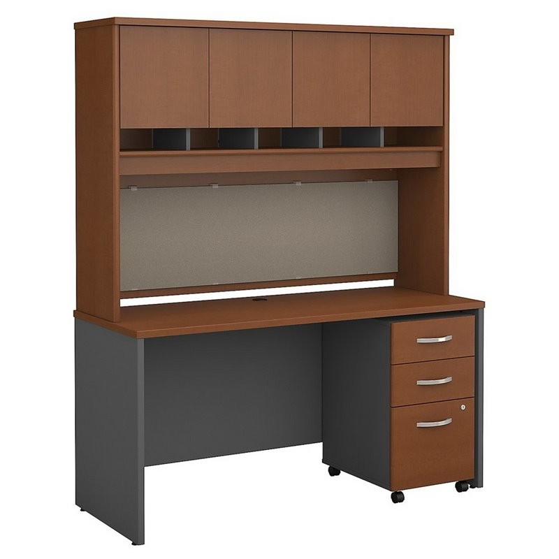 Bbf Bush Business Series C 60 Quot 3 Drawer Credenza With Hutch