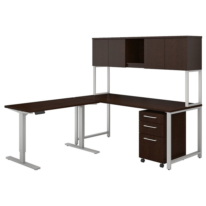 Bbf Bush Business 400 Series L Desk With Adjustable Table