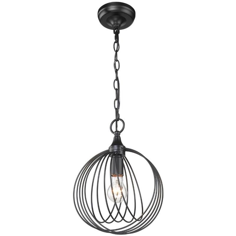 beaumont lane mini pendant light in black