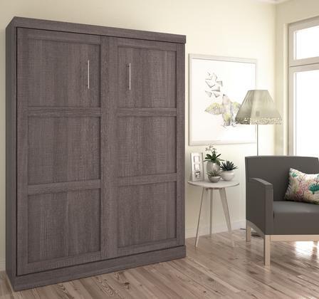 Bestar Furniture 26184 47 Queen Wall Bed In Bark Gray