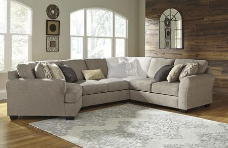 Strange Benchcraft Pantomine 39102 76 56 34 3 Piece Sectional Sofa With Left Arm Facing Cuddler Armless Sofa And Right Arm Facing Loveseat In Driftwood Color Uwap Interior Chair Design Uwaporg