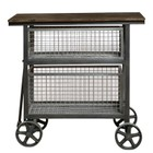 Beaumont Lane Accent Kitchen Cart in Silver