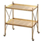 Beaumont Lane Gold Serving Cart