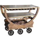 Beaumont Lane Wine Rack in Lite Coffeeed Mango and Aged Gray Accents