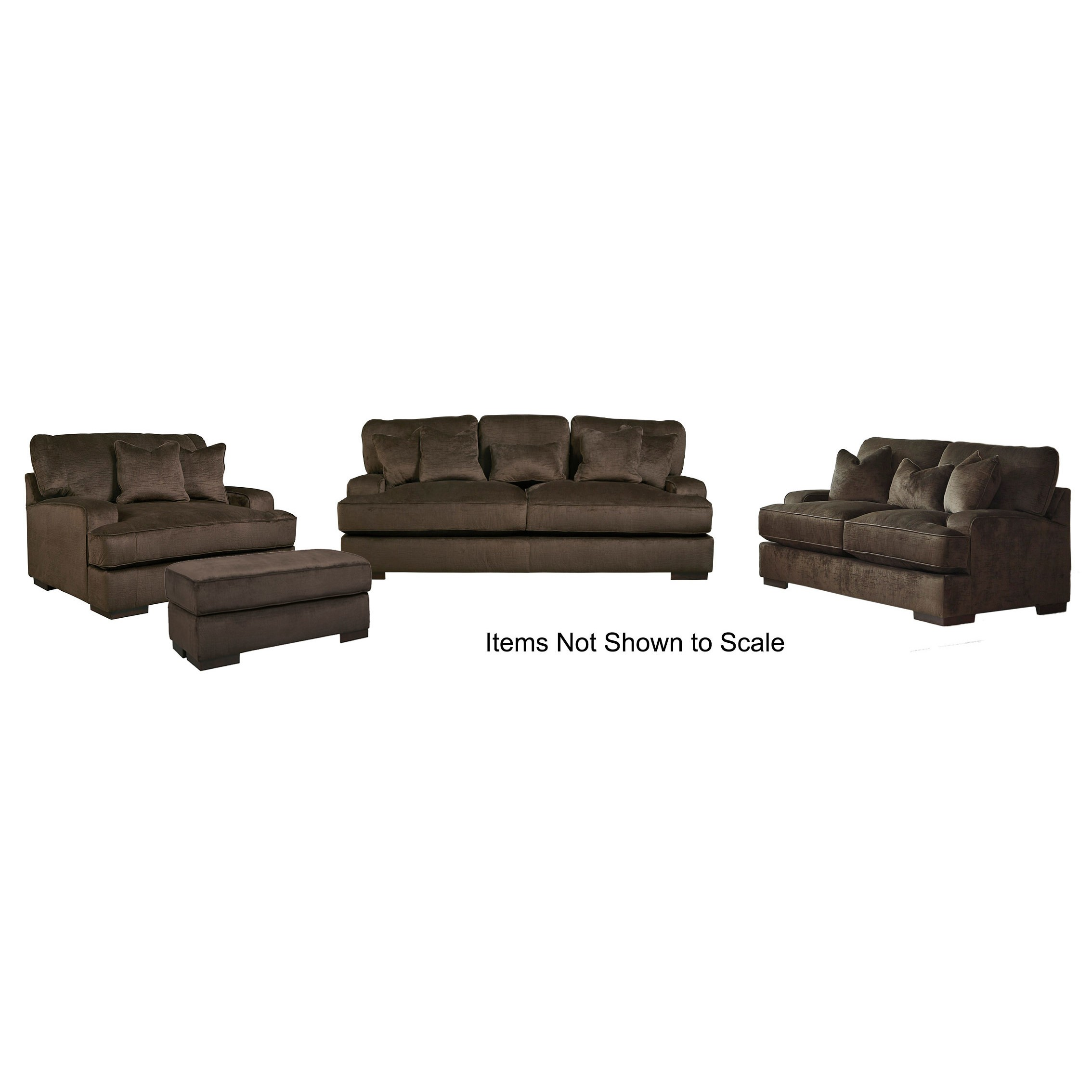 Bisenti 65306SLCO 4-Piece Living Room Set with Sofa Loveseat Chair ...