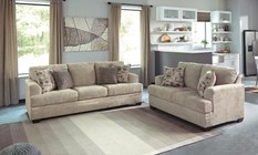 Benchcraft Barrish 48501-38-35 2-Piece Living Room Set with Sofa and Loveseat in Sisal Color