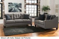 Benchcraft Brindon 53901-39-35 2-Piece Living Room Set with Queen Sofa Sleeper and Loveseat in Charcoal Grey