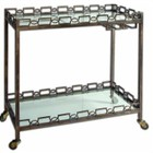Beaumont Lane Iron Serving Cart with Casters