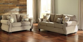 Benchcraft Tailya Collection 47700SL 2-Piece Living Room Set with Sofa and Loveseat in Barley