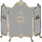 Blue Rhino S-9099 3 Fold Ornate Fully Cast Solid Brass Screen