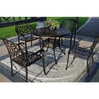 Blue Wave NU2051GB Royal Isle 5-Piece Dining Set with Table and 4 Chairs in Golden Bronze Finish