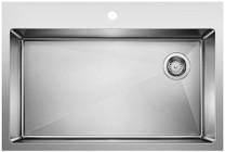 Blanco 524221 Quatrus R15 Super Single Bowl Dual Mount Kitchen Sink