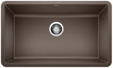 "Blanco 442537 Precis Silgranit 30"" Single Bowl Undermount Kitchen Sink In Cafe Brown"