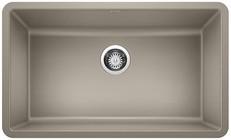 "Blanco 442531 Precis Silgranit 30"" Single Bowl Undermount Kitchen Sink In Truffle"