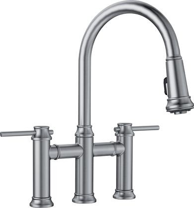 Blanco 442505 Empressa Bridge Pull Down Kitchen Faucet 1.5 Gpm In Stainless  Finish