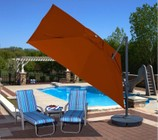 Blue Wave NU6050 Santorini II 10' Square Canopy Cantilever Umbrella with a Single Wind Vent  Modern Styled Canopy  Rugged Anodized Aluminum Pole and Base: Sunbrella Acrylic Terra Cotta