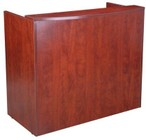 "Boss N168-C 48"" Glazed Reception Desk with Contemporary Style and Bow Front in Cherry"