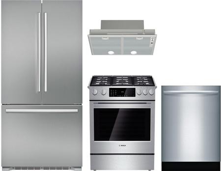 Bosch 4-Piece Kitchen Appliance Package with B21CT80SNS 36\