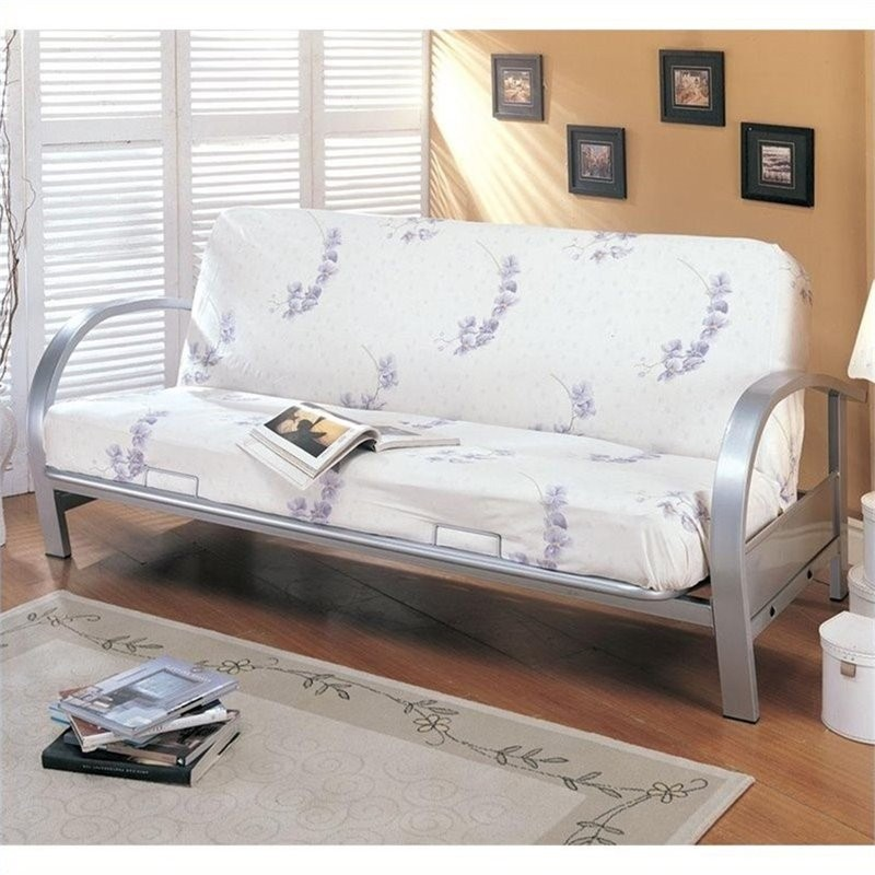Bowery Kitchen Supplies: Bowery Hill Contemporary Nicke Metal Futon Frame In Silver