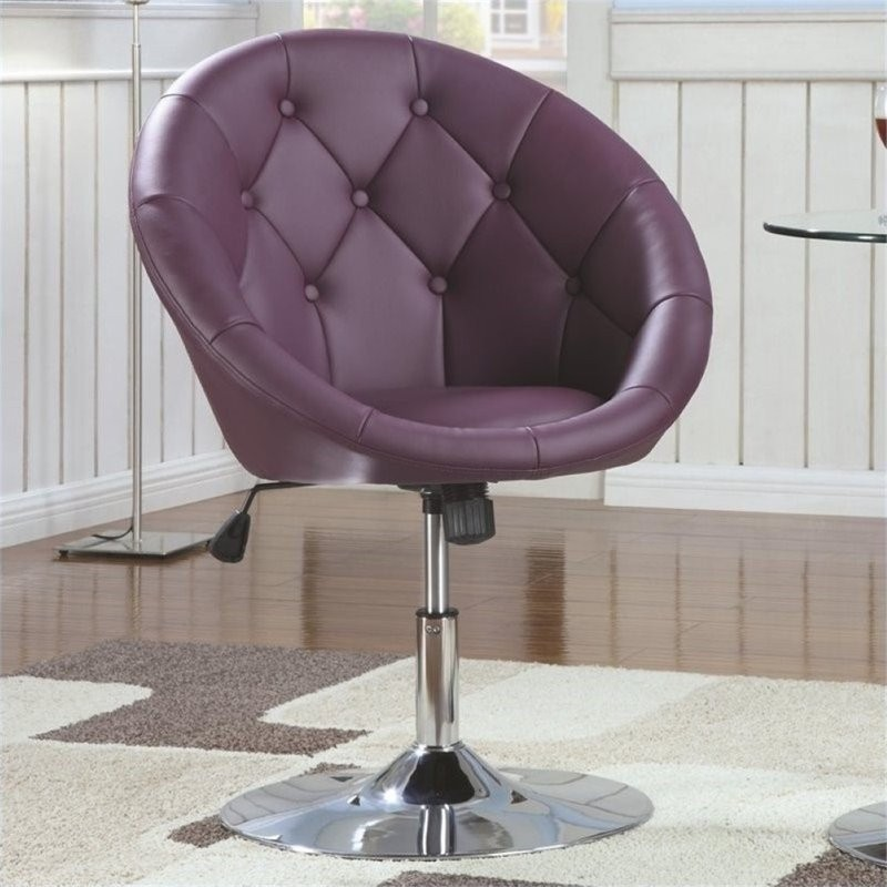 Bowery Kitchen Supplies: Bowery Hill Faux Leather Round Adjustable Tufted Swivel