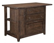 "Broyhill Attic Retreat 4990-512 50"" Wide Kitchen Island with 3 Drawers  1 Door  1 Adjustable Shelf and 2 Fixed Shelves in Weathered Mink Finish"
