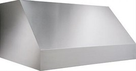 """Broan EPD6148SS 48"""" Pro-Style Outdoor Hood with 1100 CFM Internal Blower  Bright Halogen Lighting  HVI Certification  Dishwasher Safe Filters  and Heat Sentry: Stainless Steel"""