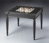 Butler 0837111 Black Licorice Finish Multi-Game Card Square Table