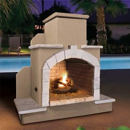 Cal Flame Frp915 78 Outdoor Fireplace With 55 000 Btu Fire Logs