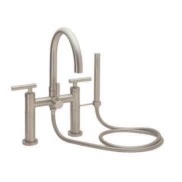 California Faucets 1108 66 20 Mblk Contemporary Deck Mount