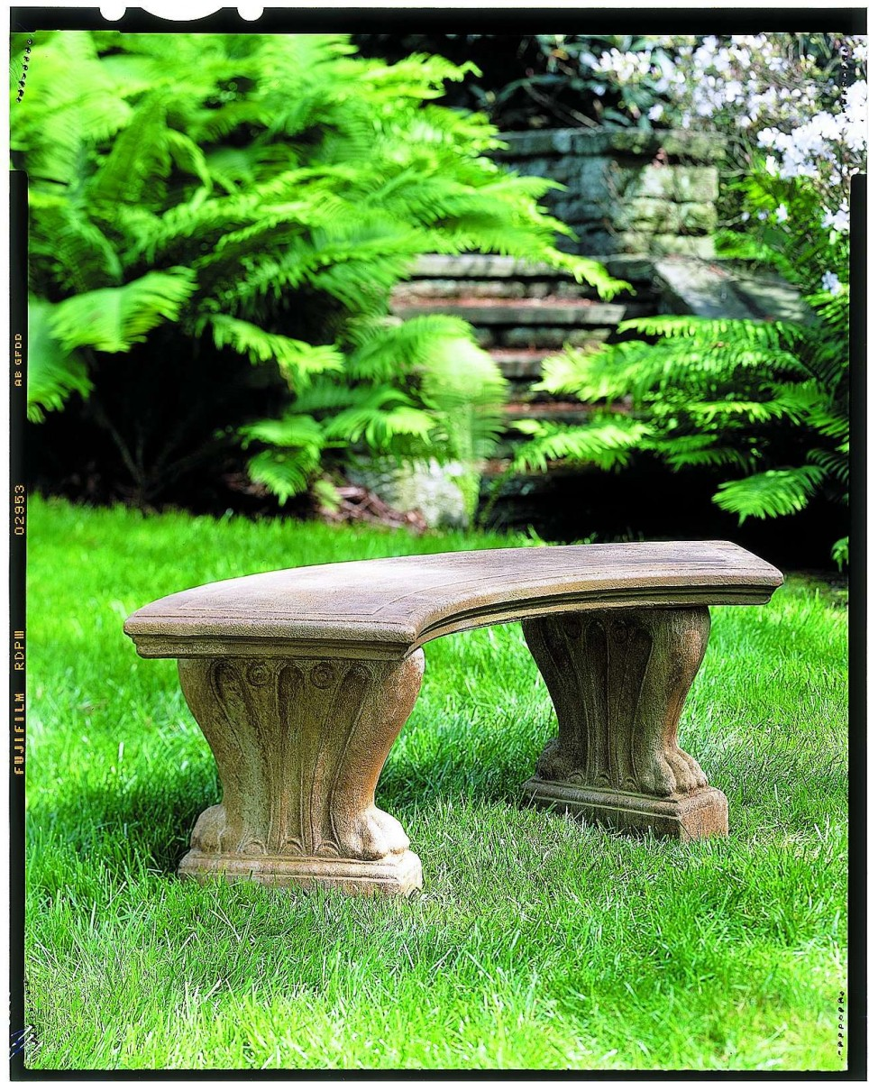 Campania International West Chester Brown Stone Curved