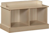 """Chelsea Home Furniture Friendship 465227B 32.25"""" Hall Bench with Open Storage and Premium Grade Pine Wood Construction in Buttermilk Color"""