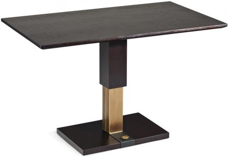 Chintaly 9137 Ct Tail Table With Matt Walnut Veneer Wooden Top And Adjule Height Base