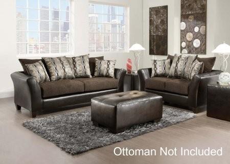 Chelsea Home Furniture 42417301SL Eta Sofa + Loveseat With 1.5 High Density  Foam Toss Pillows Sinuous ...