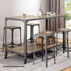 "Coaster Kitchen Carts Collection 102998 36"" Kitchen Island with Bottom Shelves  Casters  Metal Rivets  Wood and Metal Construction in Rustic Light Brown and Gunmetal Color"
