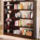 Coaster 800288 Asymmetrical Bookcase in Cappuccino Finish by Coaster Co.