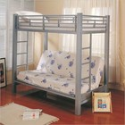 Coaster 7399 Bunks Twin Over Futon Metal Bunk Bed by Coaster